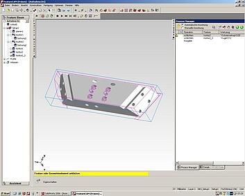 CAD-CAM Arbeitsplätze- Solidworks, Feature CAM, und PEPS